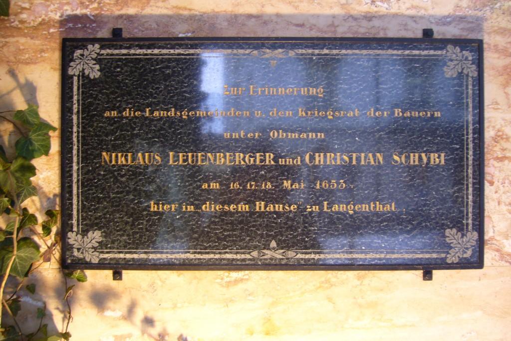 Gedenktafel Bauernkrieg 1653